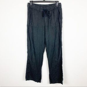 Caslon Black Wide Leg Casual Pants Size Small